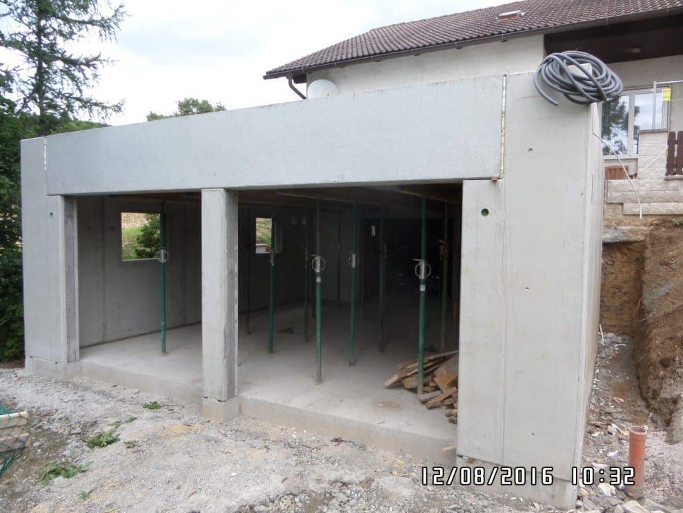 Zubau einer Garage in St. Lorenzen