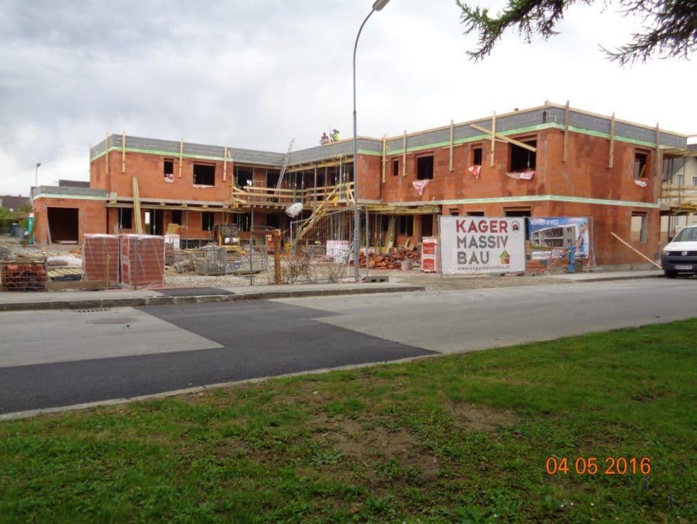 Wohnungen in Weiz, Bau von Wohnungen, Wohnhausanlage von Kager Bau
