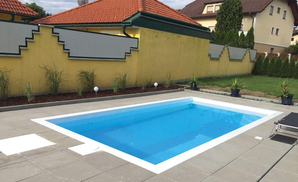 gestaltung einer au enanlage mit swimmingpool. Black Bedroom Furniture Sets. Home Design Ideas