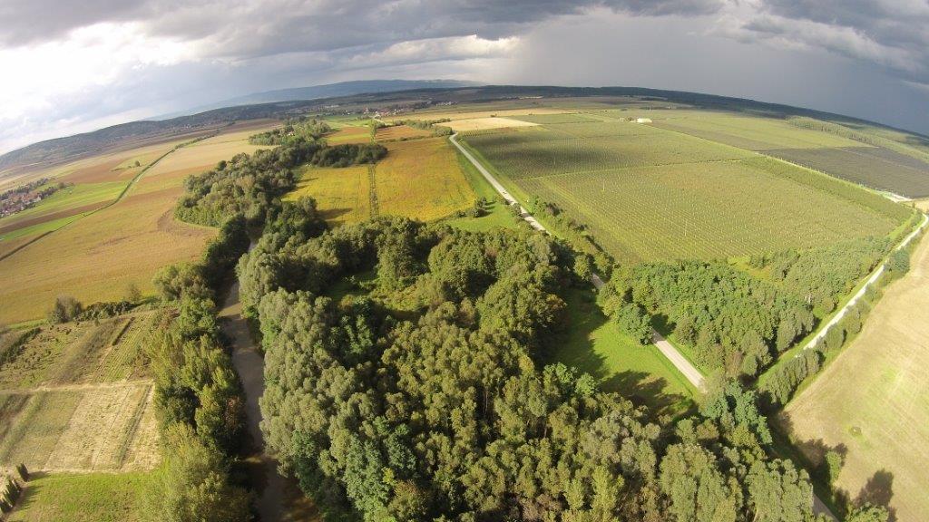 Luftaufnahme von Ungarn