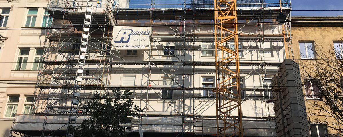 Fassenerneuerung in Wien
