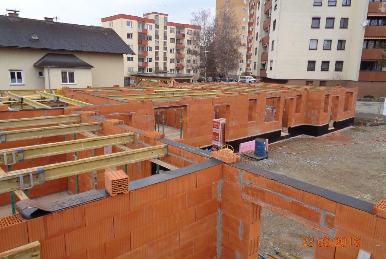 Wohnhausanlage in Weiz, Bau von Wohnungen in Weiz dank der Rohbau-Baufirma Kager