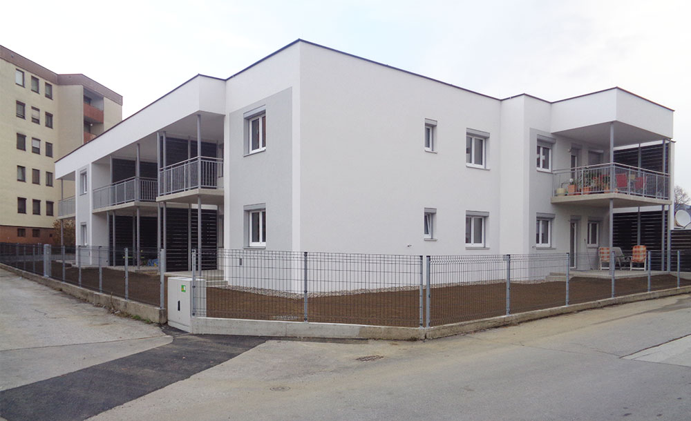 Neubau und Außenanlage einer Wohnhausanlage in Weiz