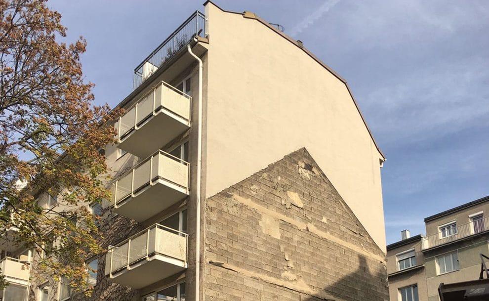 Lückenverbau durch eine Wohnhausanlage in Wien
