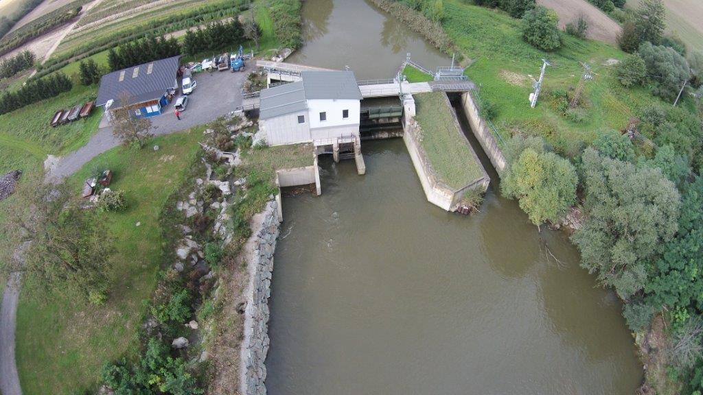 Luftaufnahme nach dem umbau des Kraftwerks Pornoapati