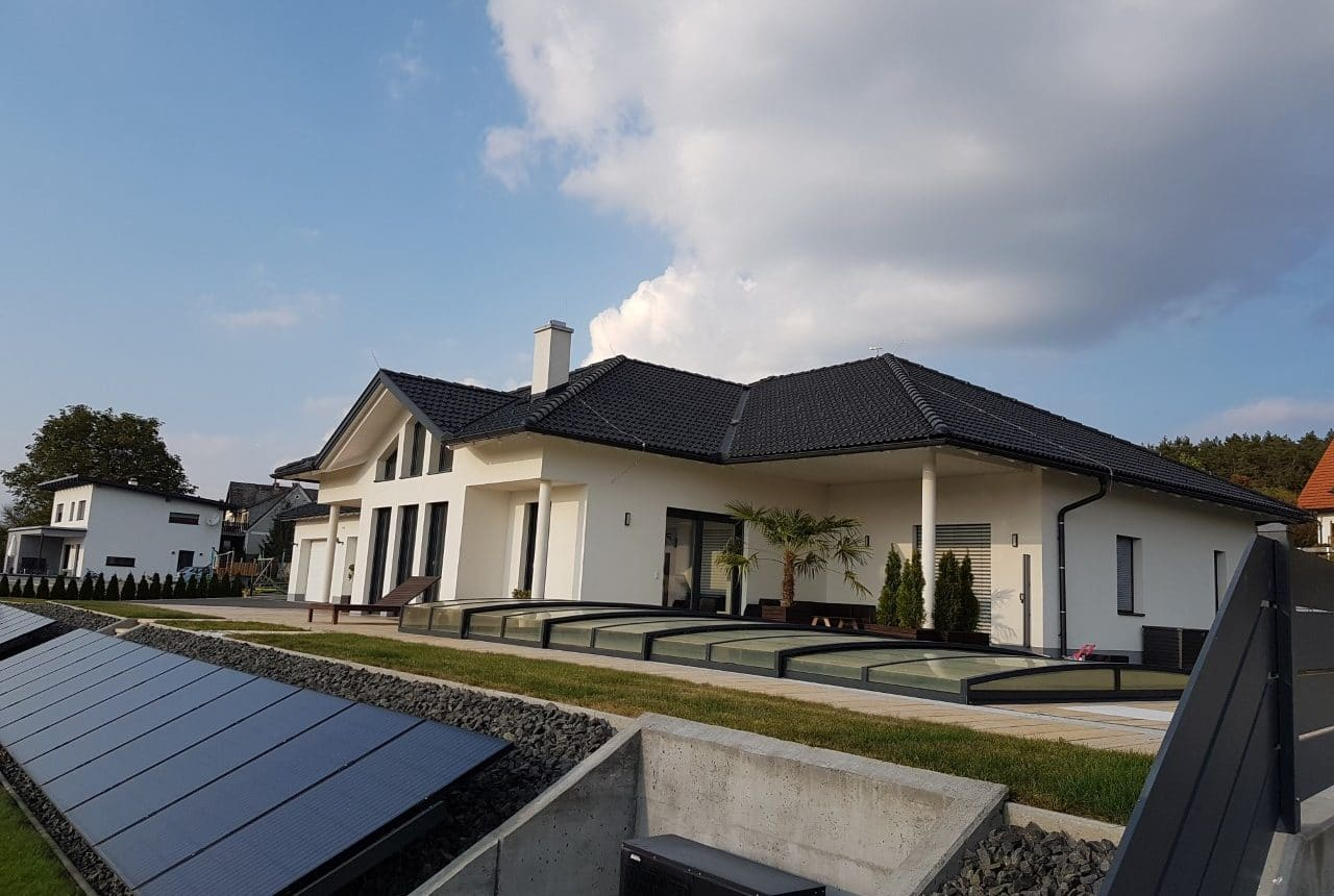 Neubau von einem Einfamilienhaus, Massivbau von Kager