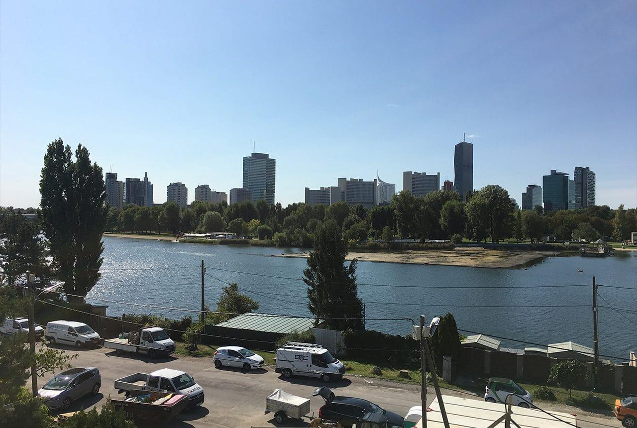 Wohnhausanlage an der alten Donau