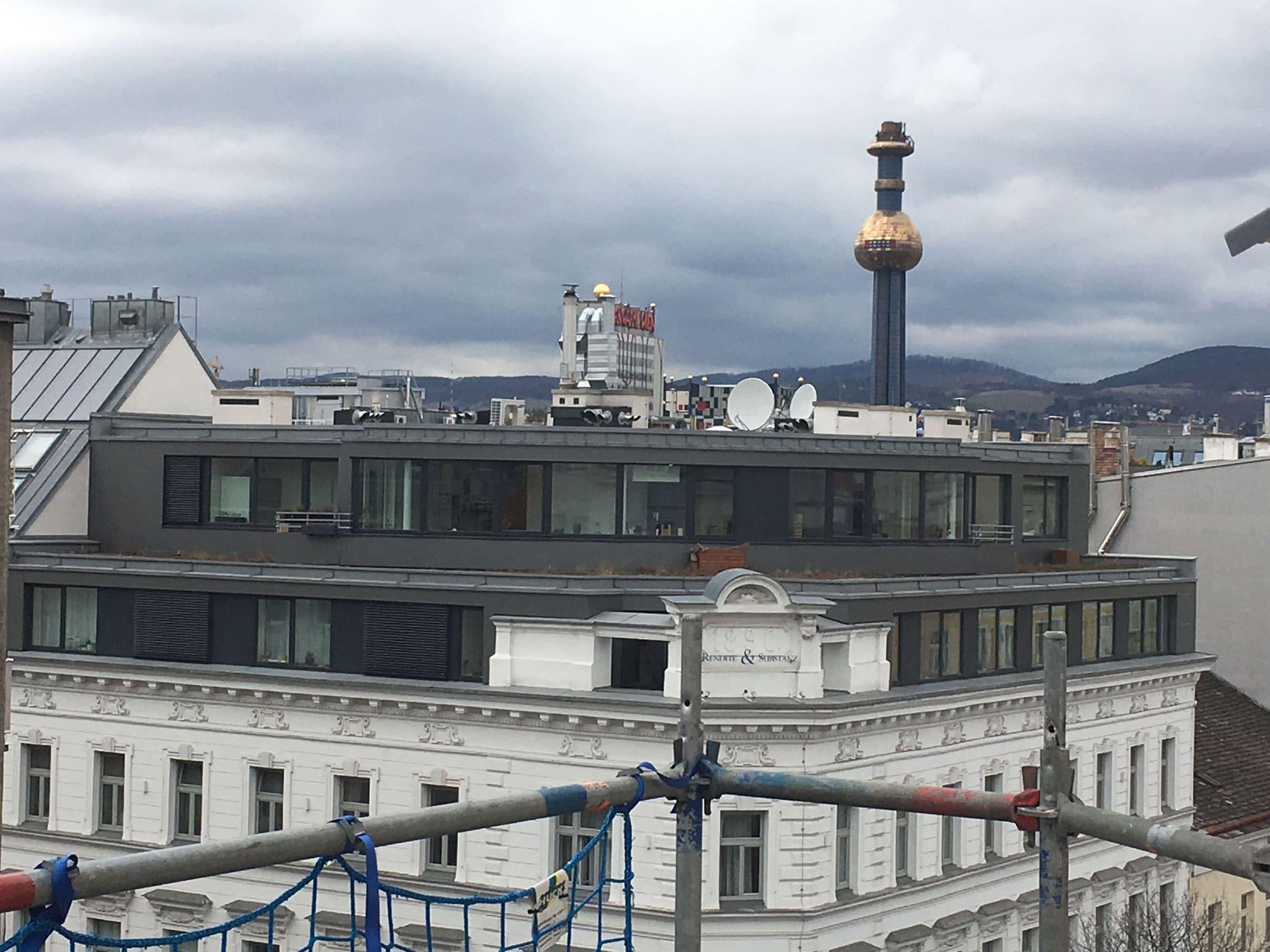Alt trifft neu: Moderner Zubau in der Klosterneuburgerstraße