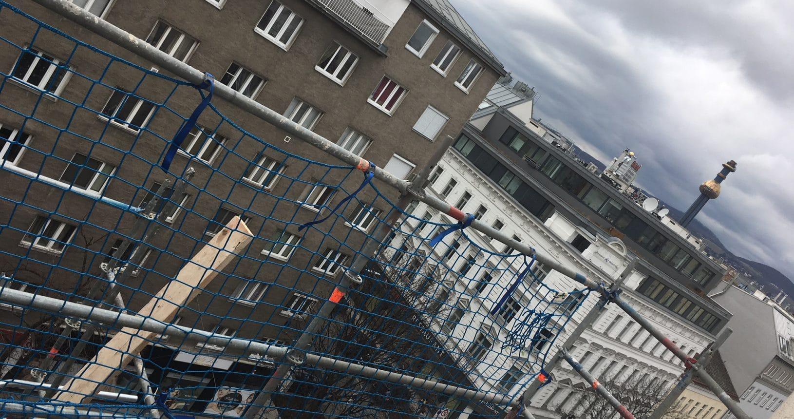2-stöckige Erweiterung eines Altbaus in Wien, Klosterneuburgerstraße