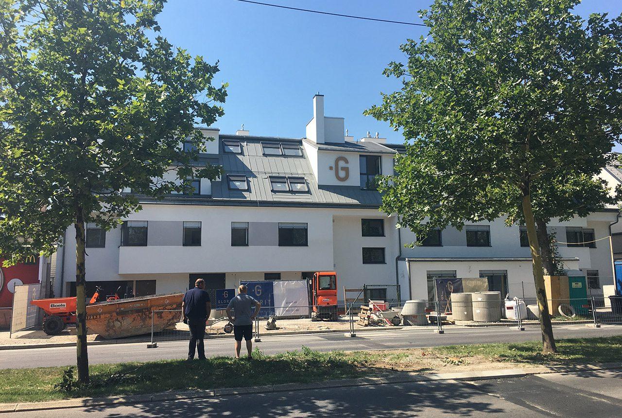 Neubau einer Wohnhausanlage in der Großenzersdorfer Straße, Wien