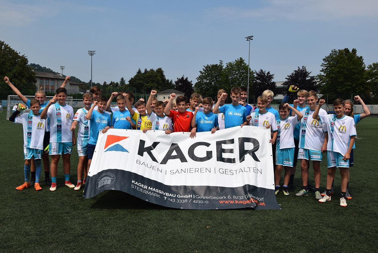 Juniors Hartberg unterstützt von Kager Bau