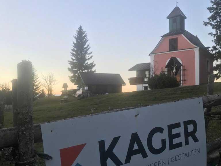 Schutzhütte in Miesenbach - von Kager erweitert