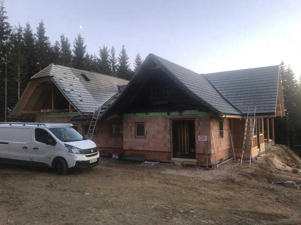 Zubau einer Schutzhütte in der Steiermark - von Kager Massivbau durchgeführt
