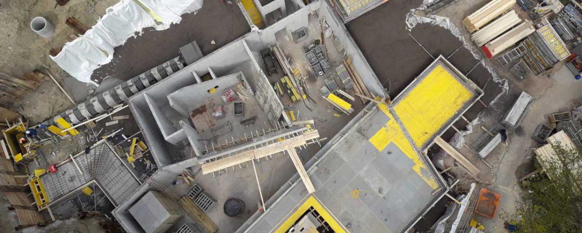 Fundament und Hochbau einer Villa in Wien