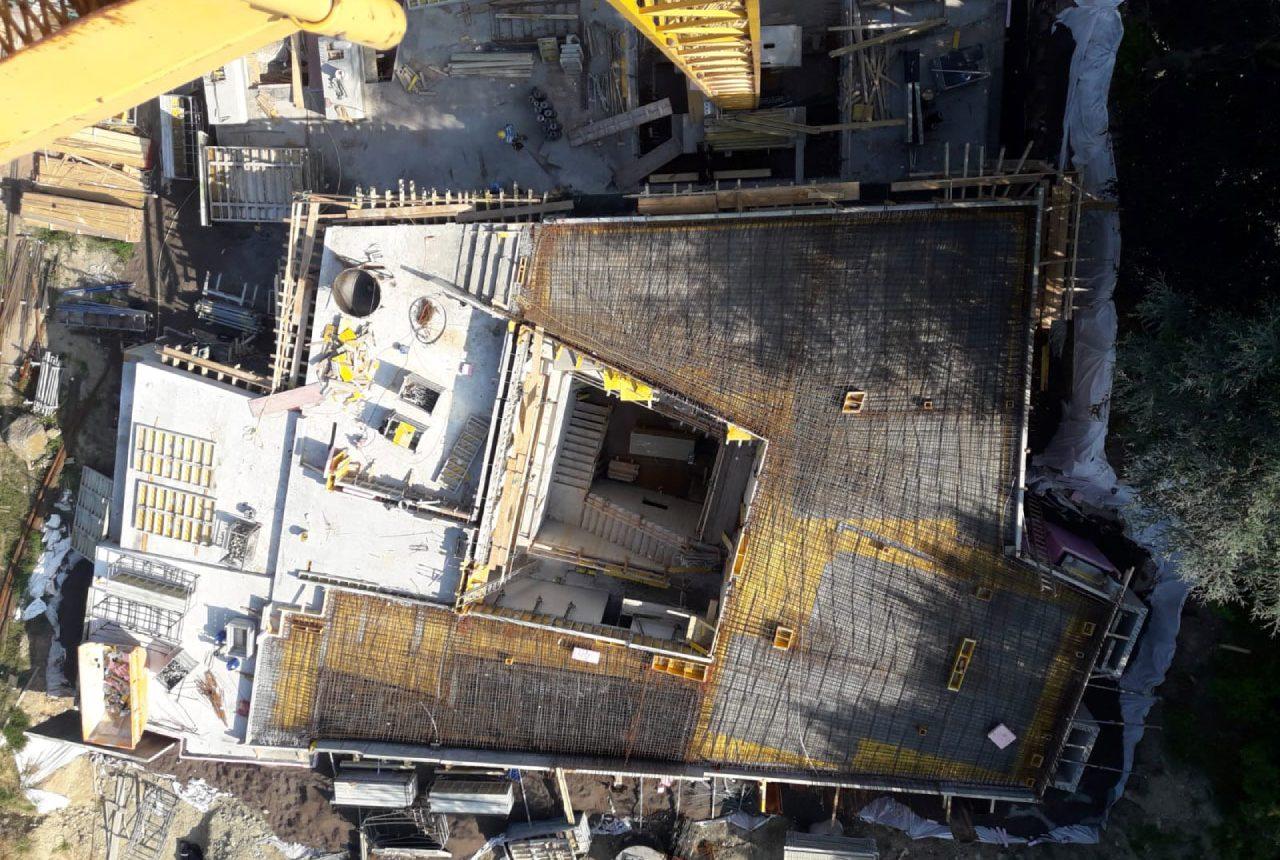 Baufortschritt der Villa in Wien