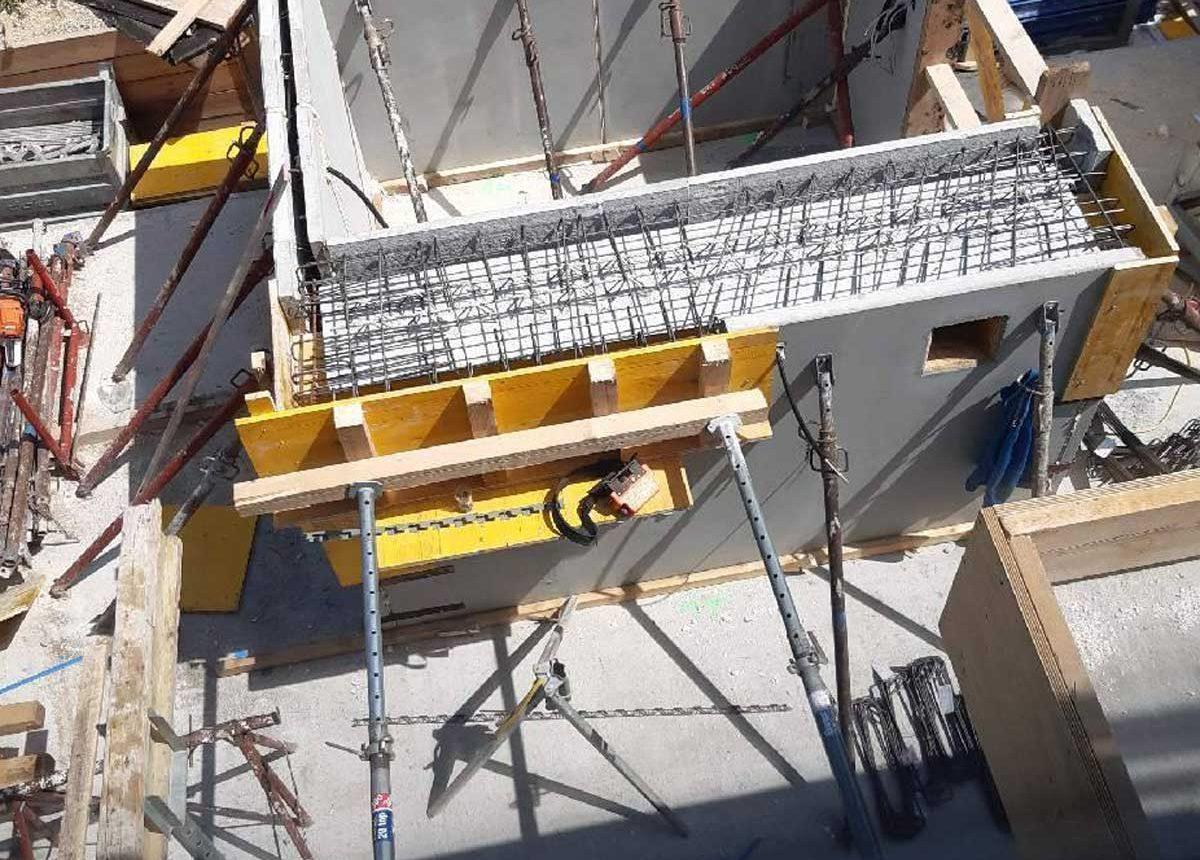 Baustelle obere Alte Donau