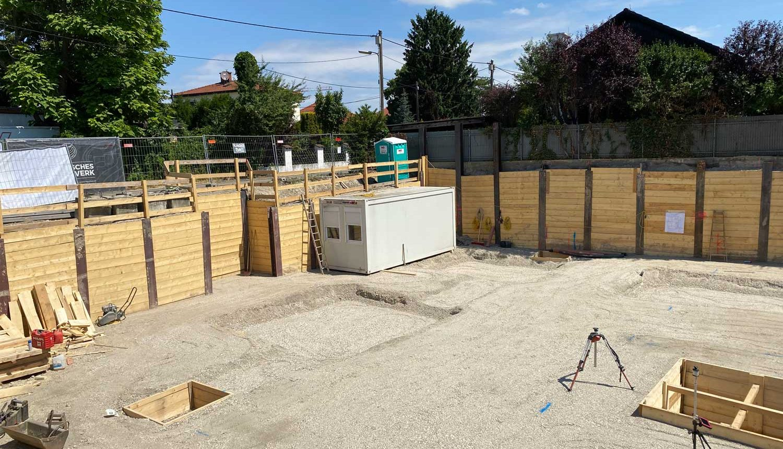 Bauarbeiten Wohnhausanlage Florian Berndl Gasse